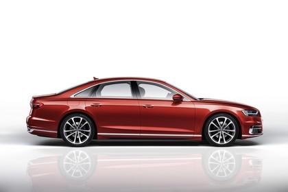 Audi A8 4N Aussenansicht Seite statisch Studio rot