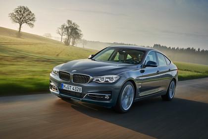 BMW 3er GT F34 Aussenansicht Front schräg dynamisch grau