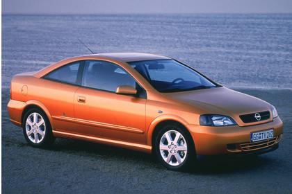 Opel Astra G Coupe Aussenansicht Seite schräg statisch gold