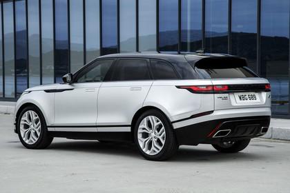 Land Rover Range Rover Velar Aussenansicht Heck schräg statisch weiß