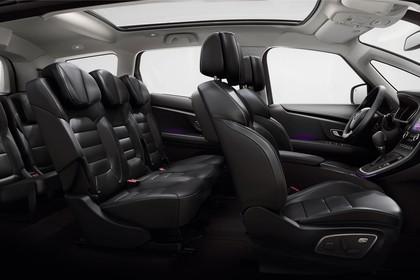 Renault Grand Scenic RFA Innenansicht statisch Studio Rücksitze Vordersitze und Armaturenbrett