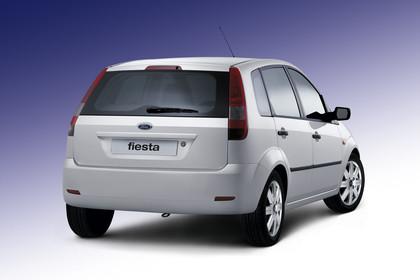 Ford Fiesta Studio Aussenansicht Heck schräg statisch weiß