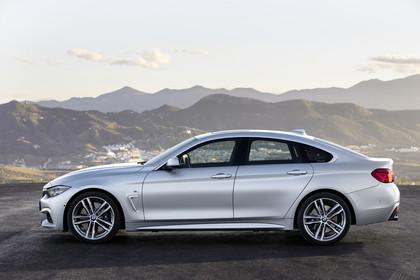 BMW 4er Gran Coupe F36 Aussenansicht Seite statisch silber