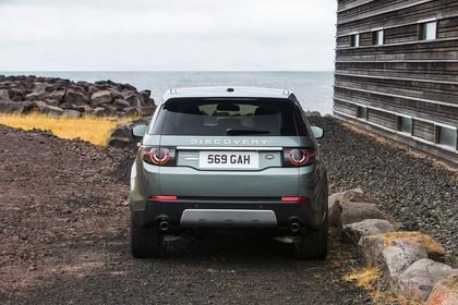Land Rover Discovery Sport L550 Aussenansicht Heck statisch grau