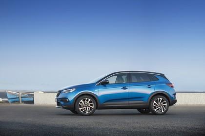 Opel Grandland X Z Aussenansicht Seite schräg statisch blau