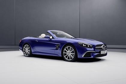 Mercedes SL R231 Aussenansicht Studio Seite schräg statisch blau