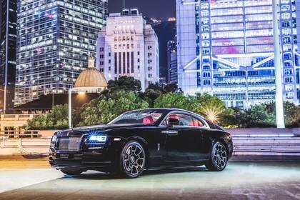 Rolls-Royce Wraith Aussenansicht Front schräg statisch schwarz