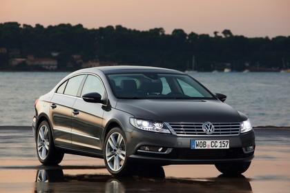VW CC 3C/35 Facelift Aussenansicht Front schräg statisch grau