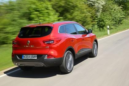 Renault Kadjar Aussenansicht Heck schräg dynamisch rot