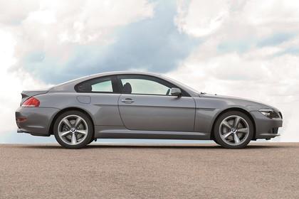 BMW 6er Coupé E63 LCI Aussenansicht Seite statisch grau