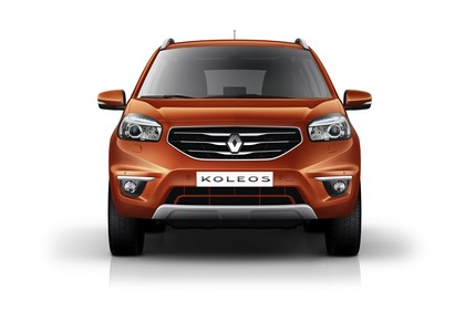 Renault Koleos Y Facelift Aussenansicht Front statisch Studio orange