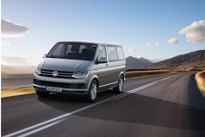 VW T6 Caravelle SG/SF Aussenansicht Front schräg dynamisch grau