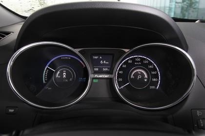 Hyundai ix35 Fuel Cell EL Innenansicht Detail statisch schwarz Tacho
