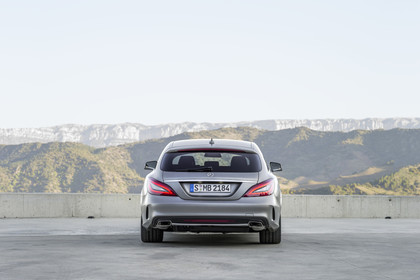Mercedes-Benz CLS Shooting Brake X218 Aussenansicht Heck statisch silber