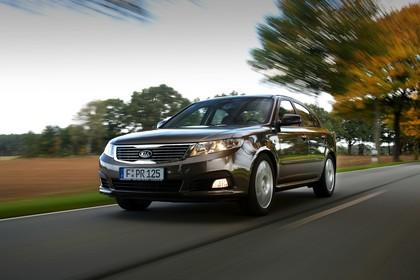Kia Magentis MG Facelift Aussenansicht Front schräg dynamisch braun