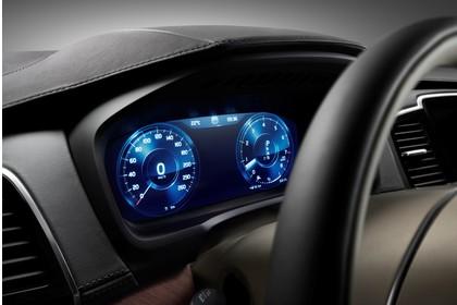 Volvo XC90 L Innenansicht statisch Studio Detail Tacho